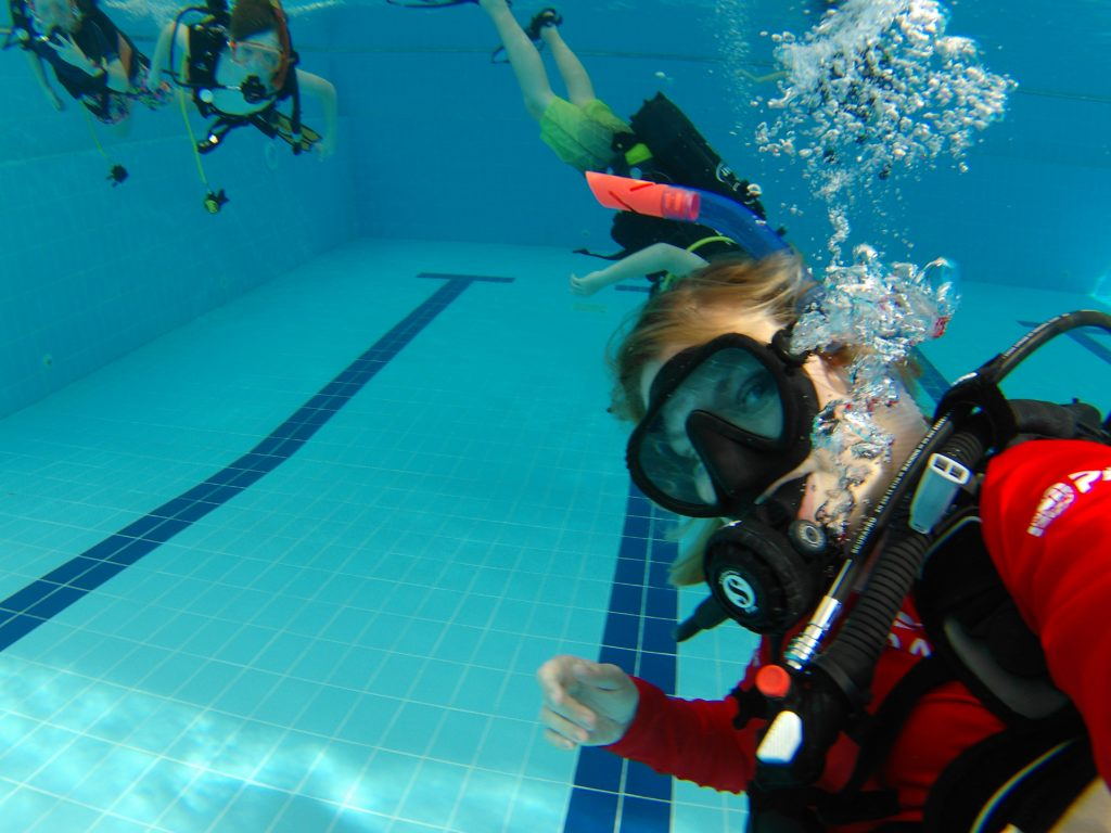 Instructor in pool